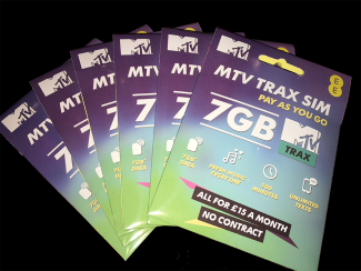 MTV TRAX SIM WALLETS FAN-SML